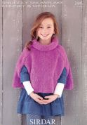 Sirdar Girls Capes Snowflake Knitting Pattern 2445  Chunky