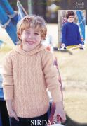 Sirdar Boys Sweaters Supersoft Knitting Pattern 2448  Aran
