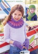 Sirdar Childrens Hat, Scarf, Mittens & Snood Supersoft Knitting Pattern 2449  Aran