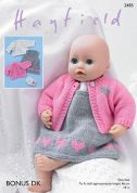 Hayfield Doll Clothes Bonus Knitting Pattern 2485  DK