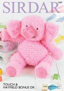 Sirdar Elephant Toy Touch Knitting Pattern 2487