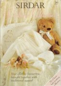 Sirdar Baby Sunshine Collection 261 Knitting Pattern Book  3 Ply, 4 Ply, DK