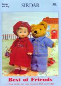 Sirdar Doll Clothes Best of Friends 267 Knitting Pattern Book  DK
