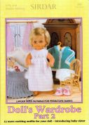 Sirdar Doll's Wardrobe Part 2 268 Knitting Pattern Book  4 Ply, DK