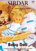 Sirdar Baby Doll Book 272 Knitting Pattern Book  4 Ply, DK