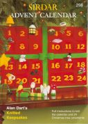 Sirdar Christmas Advent Calendar 298 Knitting Pattern Book  DK