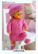 Hayfield Doll Clothes Bonus Knitting Pattern 3119  DK