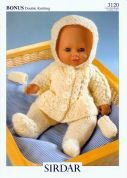 Hayfield Doll Clothes Bonus Knitting Pattern 3120  DK