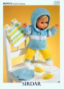 Hayfield Doll Clothes Bonus Knitting Pattern 3122  DK