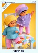 Hayfield Doll Clothes Bonus Knitting Pattern 3123  DK