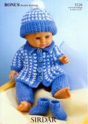 Hayfield Doll Clothes Bonus Knitting Pattern 3124  DK