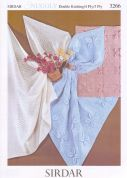 Sirdar Baby Shawls & Blankets Knitting Pattern 3266  3 Ply, 4 Ply, DK