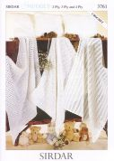 Sirdar Baby Shawls, Blankets & Cushions Knitting Pattern 3761  2 Ply, 3 Ply, 4 Ply