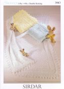 Sirdar Baby Shawls & Blankets Knitting Pattern 3983  3 Ply, 4 Ply, DK