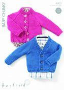 Hayfield Baby Cardigans Knitting Pattern 4400  Chunky