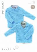 Hayfield Baby Sweaters Knitting Pattern 4408  Chunky