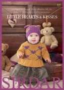 Sirdar Baby Little Hearts & Kisses 443 Knitting Pattern Book  DK