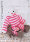 Hayfield Kitty in Pyjamas Toy Knitting Pattern 4464  DK