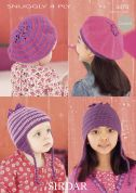 Sirdar Baby & Girls Hats & Beret Crochet Pattern 4474  4 Ply