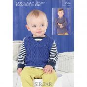 Sirdar Baby Sweater & Tank Top Knitting Pattern 4524  DK