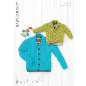 Hayfield Baby Cardigans Knitting Pattern 4535  Chunky