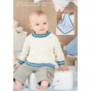 Sirdar Baby Sweater & Blanket Snuggly Bubbly Knitting Pattern 4555  DK