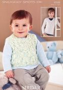 Sirdar Baby Sweater & Tank Top Snuggly Spots Knitting Pattern 4566  DK