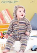 Sirdar Baby All-in-One Onesie Baby Crofter Knitting Pattern 4572  DK