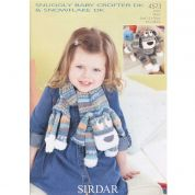 Sirdar Childrens Toy & Novelty Scarf Snowflake Knitting Pattern 4573  DK