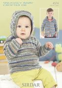 Sirdar Baby Sweater & Jacket Baby Crofter Knitting Pattern 4574  DK