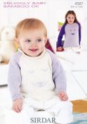 Sirdar Baby Picture Sweaters Knitting Pattern 4587  DK