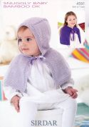 Sirdar Baby Capes Knitting Pattern 4591  DK