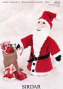 Sirdar Father Christmas Toy Snowflake Knitting Pattern 4593  DK