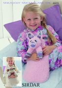 Sirdar Pig & Monkey Hot Water Bottle Covers Snowflake Knitting Pattern 4609  DK