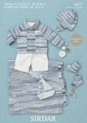 Sirdar Baby Coat, Hat, Booties & Blanket Baby Crofter Knitting Pattern 4617  4 Ply