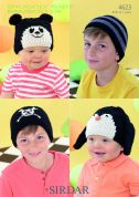 Sirdar Childrens Hats Knitting Pattern 4623  DK