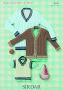 Sirdar Baby Sweater, Cardigan & Tank Top Knitting Pattern 4641  4 Ply