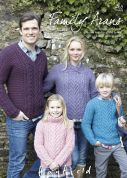 Hayfield Family Arans 465 Knitting Pattern Book  Aran