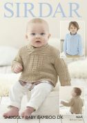 Sirdar Baby & Boys Sweaters Baby Bamboo Knitting Pattern 4664  DK