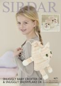 Sirdar Baby & Girls Novely Booties & Bag Baby Crofter & Snowflake Knitting Pattern 4671  DK