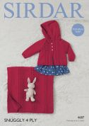 Sirdar Baby Jacket & Blanket Snuggly Knitting Pattern 4687  4 Ply