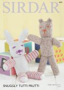 Sirdar Bear & Rabbit Cuddly Toys Tutti Frutti Knitting Pattern 4695