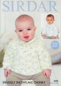 Sirdar Baby Sweaters Snowflake Knitting Pattern 4696  Chunky