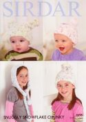 Sirdar Baby & Childrens Hats Snowflake Knitting Pattern 4698  Chunky