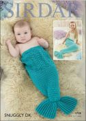 Sirdar Baby & Childrens Mermaid Snuggler Snuggly Knitting Pattern 4708