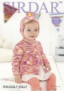 Sirdar Baby Jacket & Bonnet Jolly Knitting Pattern 4725  DK