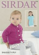 Sirdar Baby & Girls Cardigans Knitting Pattern 4740  4 Ply