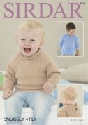 Sirdar Baby & Boys Sweaters Knitting Pattern 4742  4 Ply