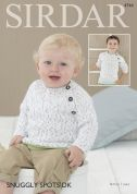 Sirdar Baby & Boys Sweaters Snuggly Spots Knitting Pattern 4744  DK