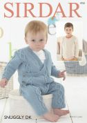Sirdar Baby & Boys Onesie & Sweater Knitting Pattern 4750  DK
